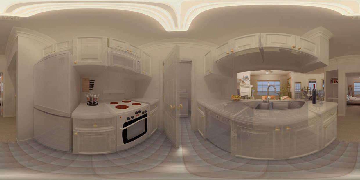 Kitchen Panorama - solid shading