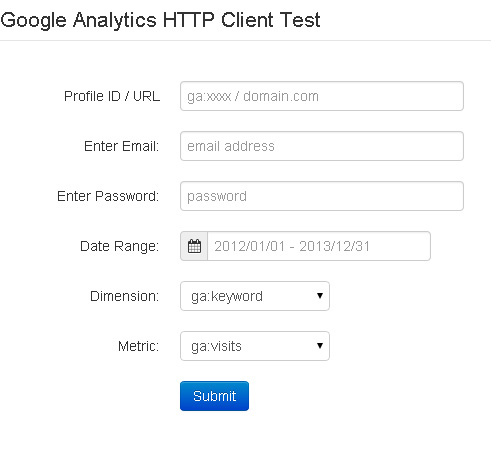 Google Analytics HTTP Client